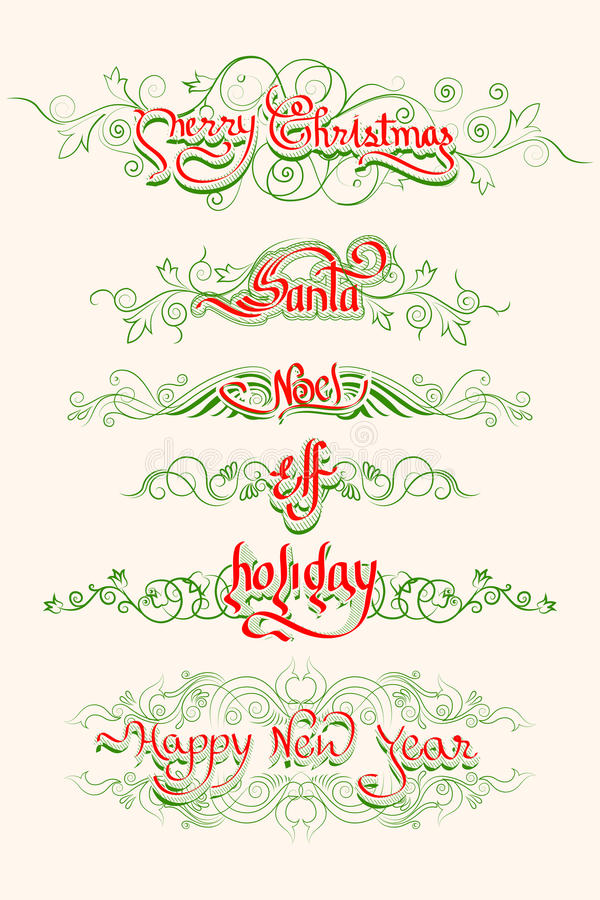 Download Christmas Typography Swirls Stock Vector - Image: 34831529