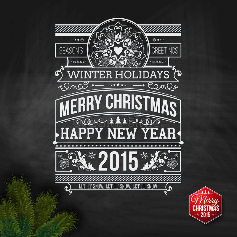 Christmas typography for your winter holidays design. Vector illustration vector illustration