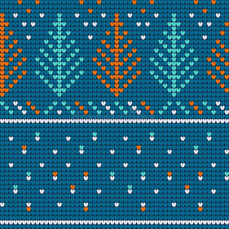 Christmas ugly sweater mint seamless pattern vector illustration