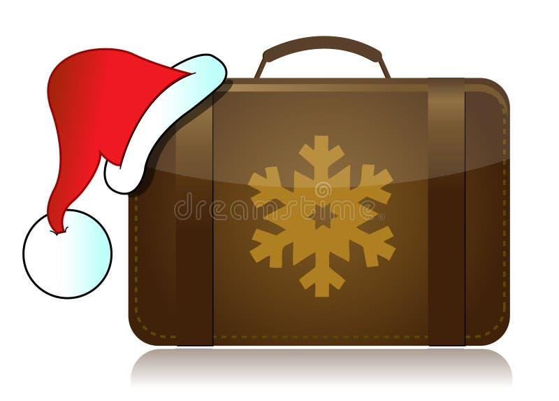Christmas Vacation Luggage Stock Photos