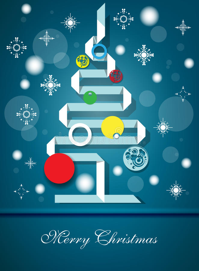 Christmas Vector. Christmas background with light and snow stock illustration