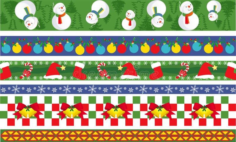 Christmas vector border stock photos