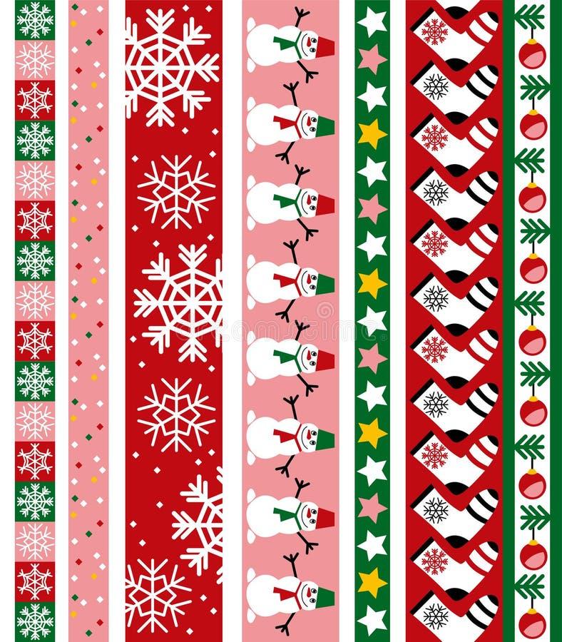 Christmas vector border royalty free illustration