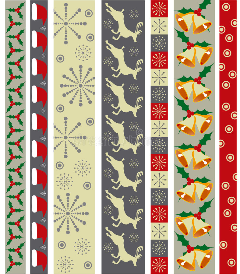 Download Christmas vector border stock vector. Image of wallpaper - 6636181