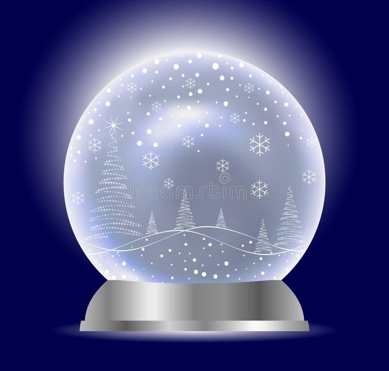 Christmas Vector Snow Globe stock illustration