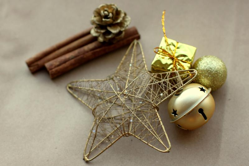 Christmas vibes & New Year`s stuff royalty free stock image