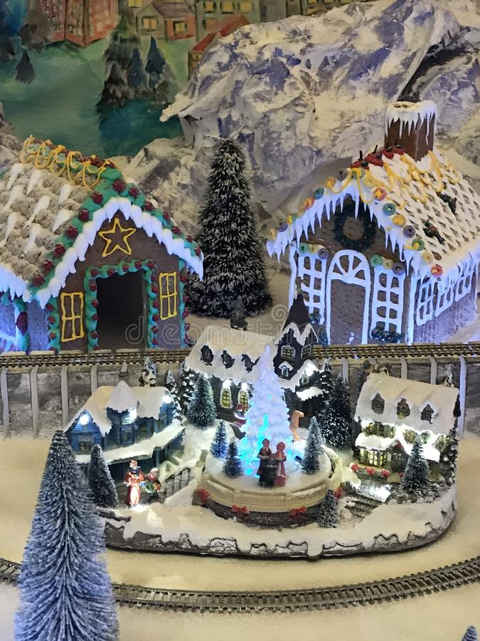 Christmas village stock photography