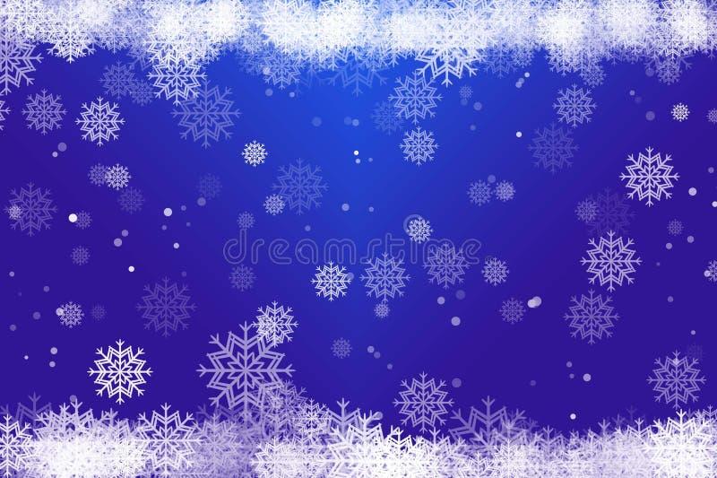 Blur bokeh snowflakes Christmas background stock photography