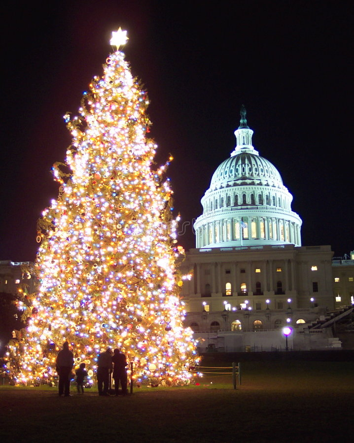 Christmas in Washington D. C. royalty free stock photo