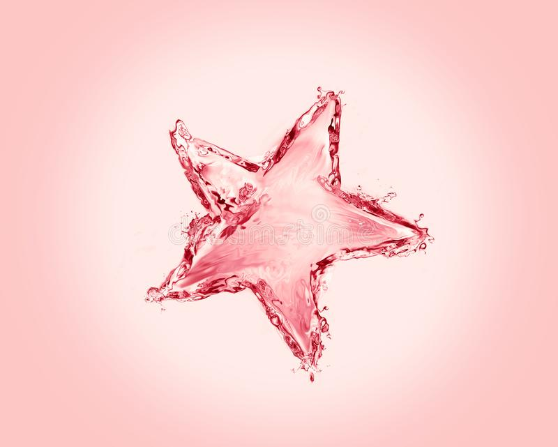 Christmas Water Star stock images