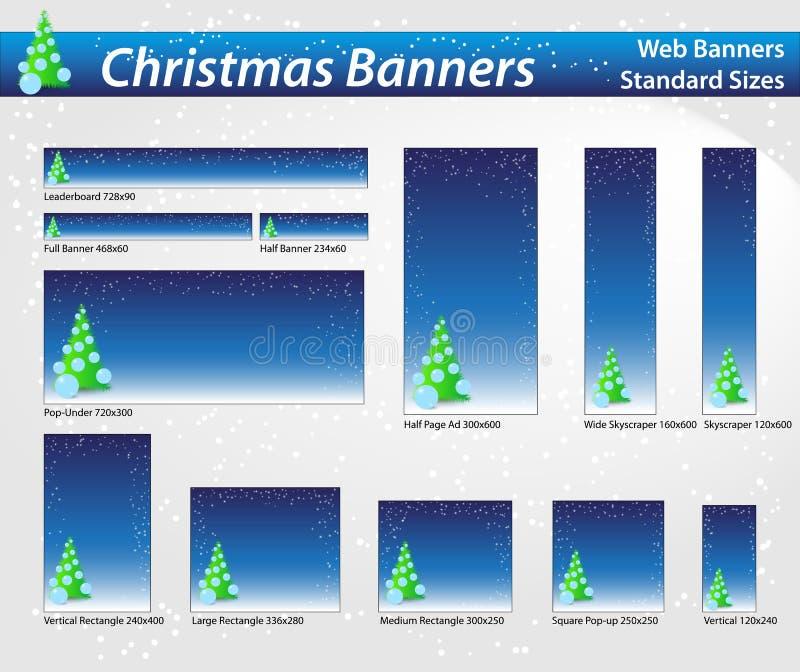 Christmas web banners stock photos