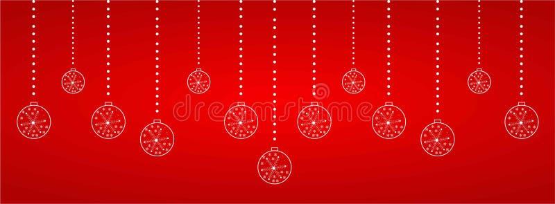 Christmas web heading. In reddish background , vector royalty free illustration