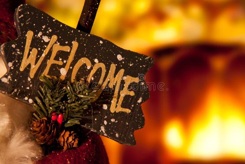 Christmas Welcome Sign