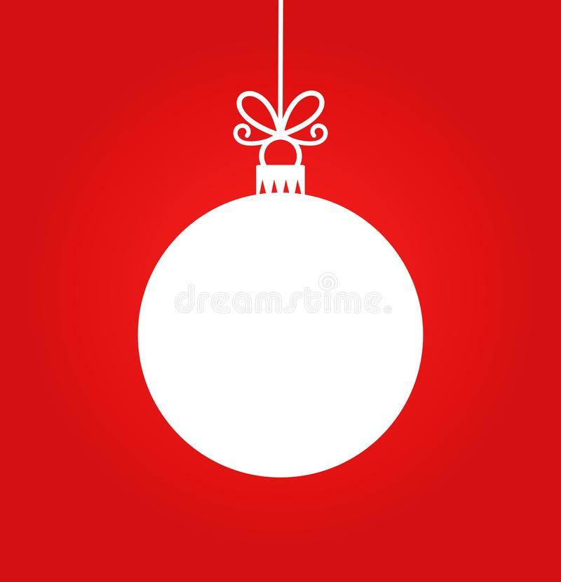 Free Christmas White Ball Hanging Ornament Royalty Free Stock Photo - 103795425