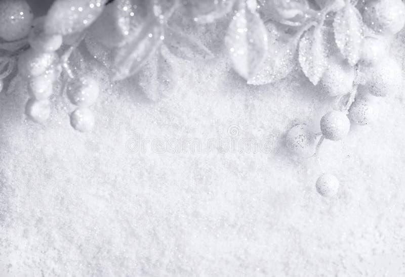 Christmas white seasonal background stock image