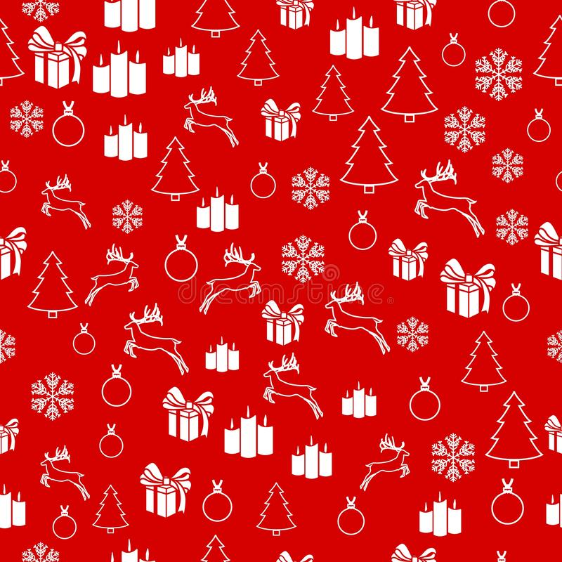 Christmas white snowflake on abstract red bakcground vector illustration eps10. Wrapping paper. Christmas white snowflake on abstract red bakcground vector royalty free illustration