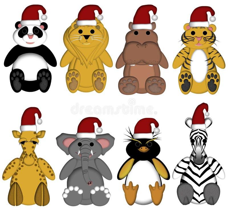 Download Christmas Wildlife Zoo Animals On White Background Stock Illustration - Image: 17024911