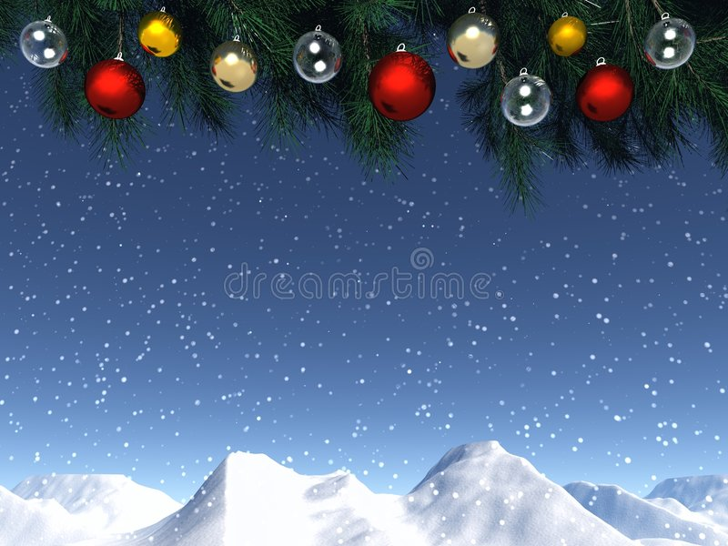 Christmas window royalty free illustration