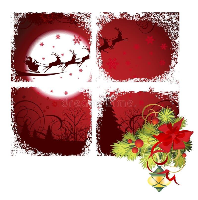 Christmas window. royalty free illustration