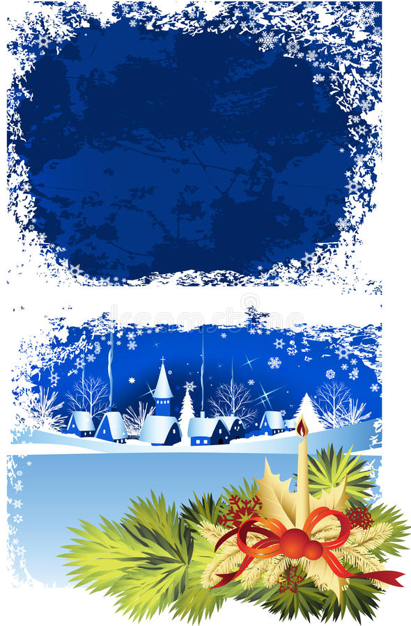Christmas window. vector illustration