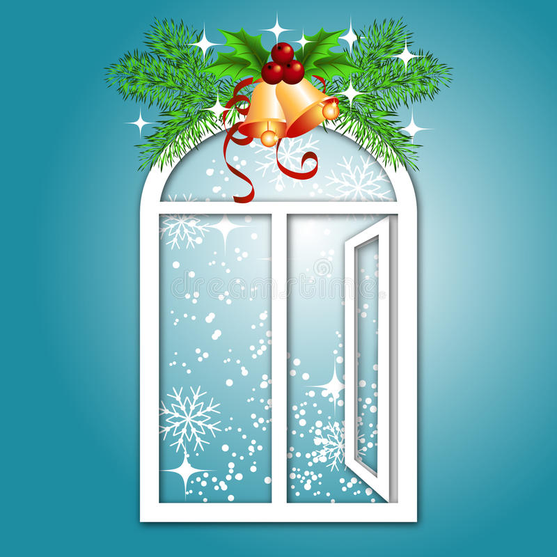 Download Christmas window stock vector. Illustration of holly - 17208395