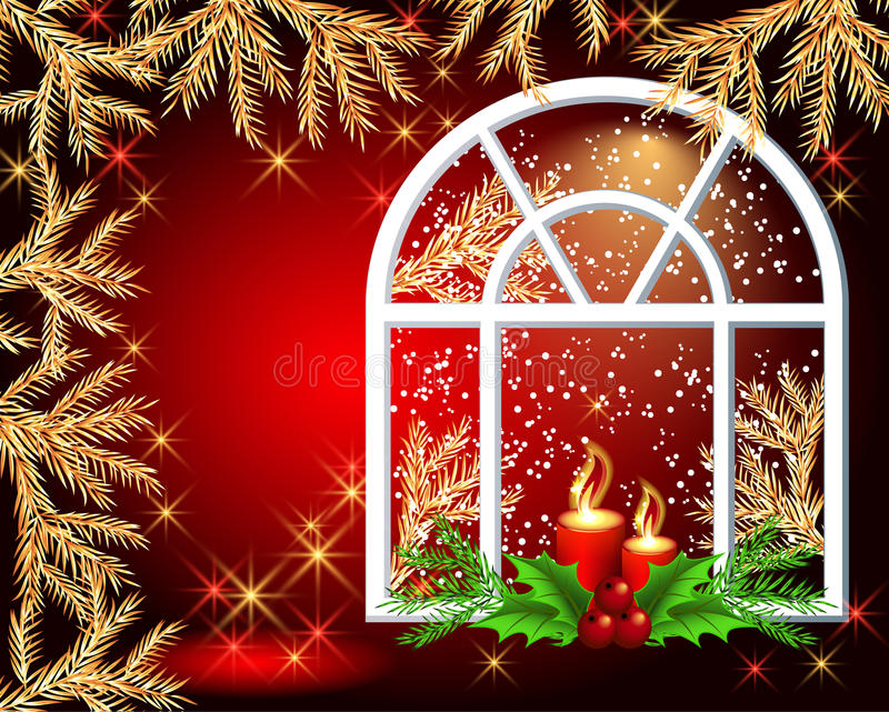 Download Christmas window stock vector. Illustration of design - 22126870