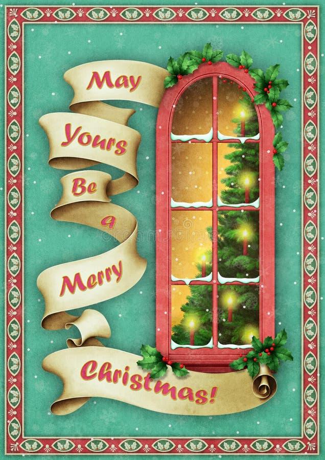 Christmas window stock illustration