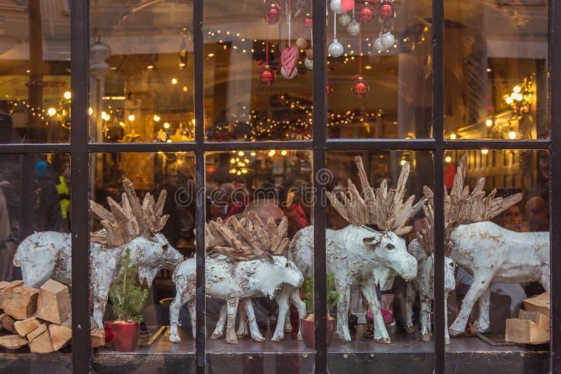 Download Christmas window stock image. Image of snowflake, urban - 36632709