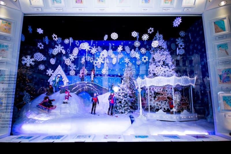 Christmas Windows NYC stock image