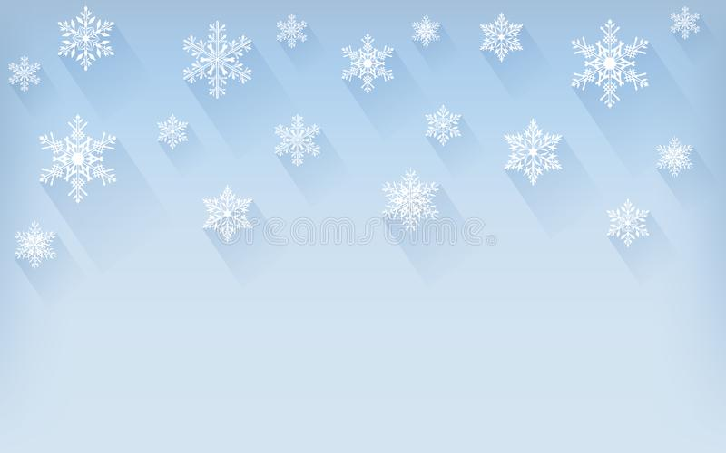 Christmas winter background with snowflakes. Greeting card or invitation. Merry Christmas and a happy new year. vector illustration