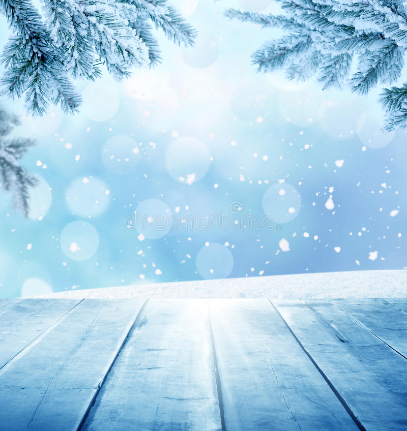 Christmas winter background stock illustration