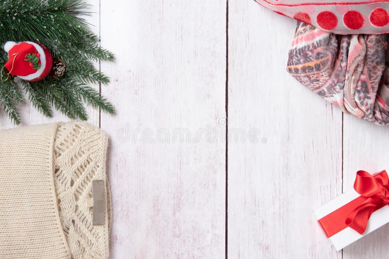 Christmas or winter decoration background. Compostion from chris stock photos