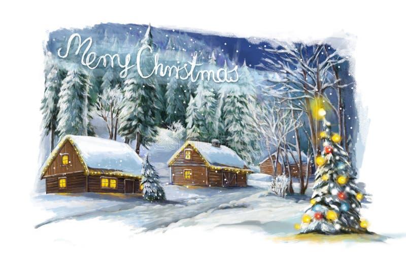 Christmas winter happy scene royalty free stock photo