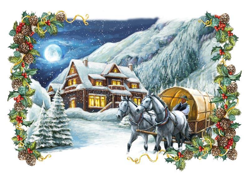 Download Christmas Winter Happy Scene Stock Illustration