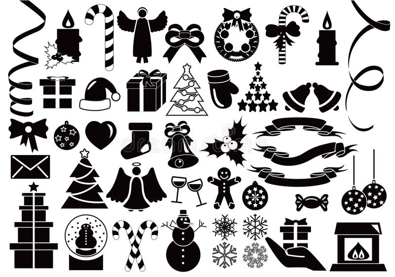 Download Christmas And Winter Icons Collection Stock Vector - Image: 27909831