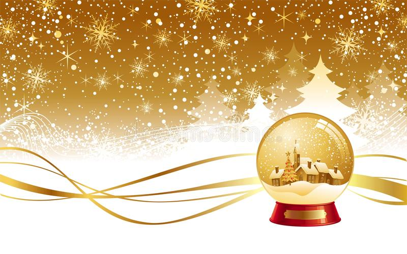 Download Christmas Winter Landscape & Snow Globe Stock Illustration - Image: 11812754