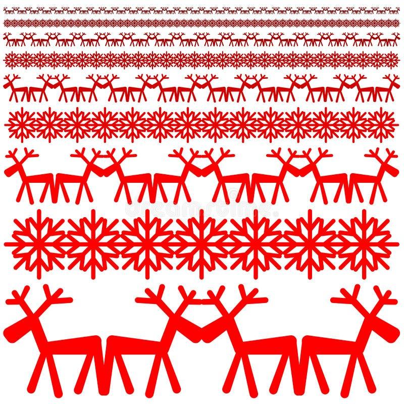 Christmas winter pattern stock photos
