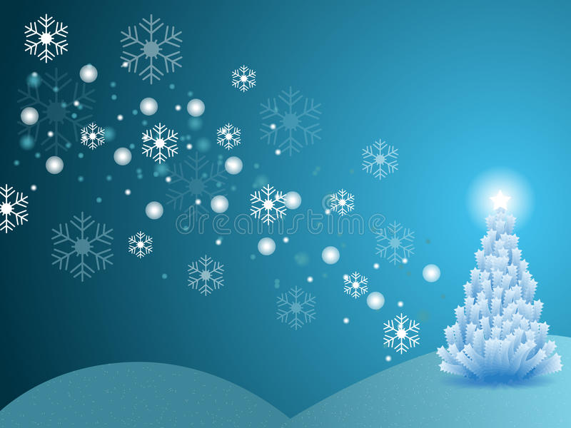 Christmas winter scene stock illustration