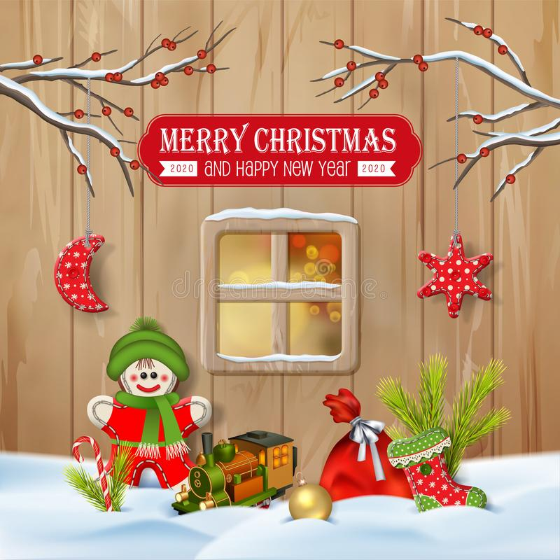 Christmas Winter Scene vector illustration