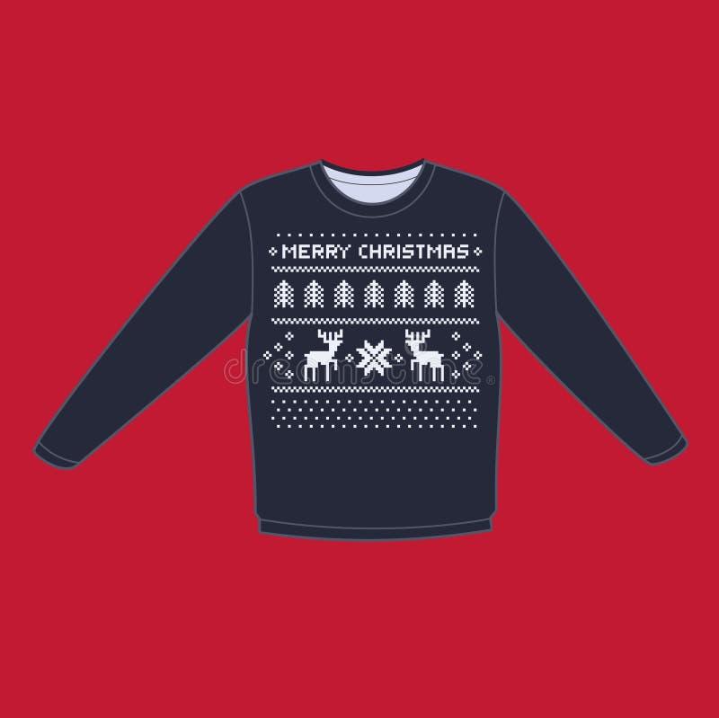 Christmas winter warm sweater flat icon royalty free illustration