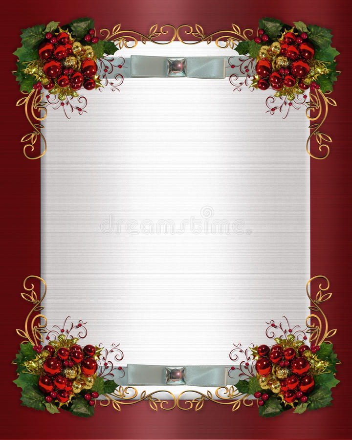 Christmas Or Winter Wedding Border Royalty Free Stock Photography