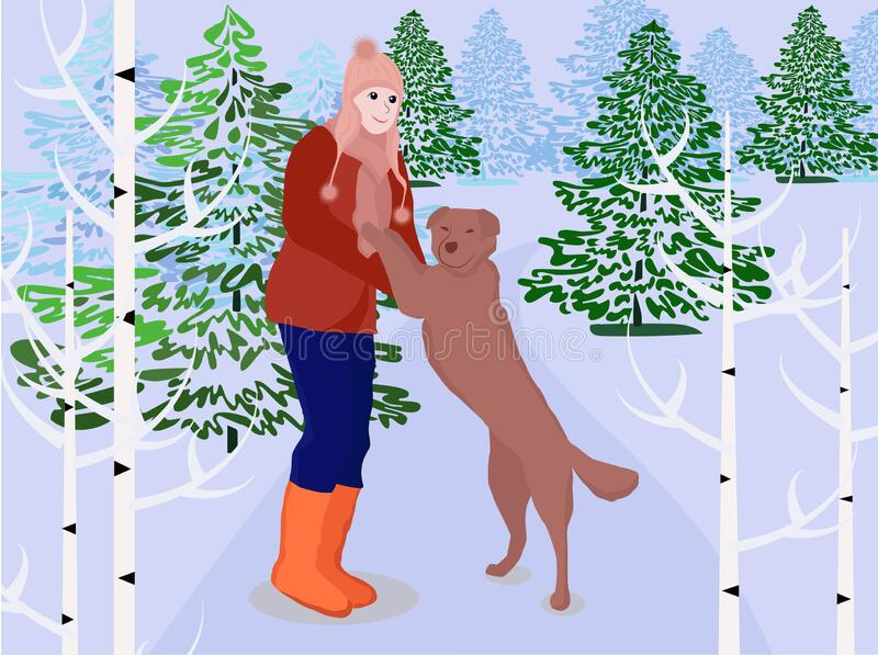 513 Dog Playing In Snow Illustrations, Royalty-Free Vector Graphics & Clip  Art - iStock
