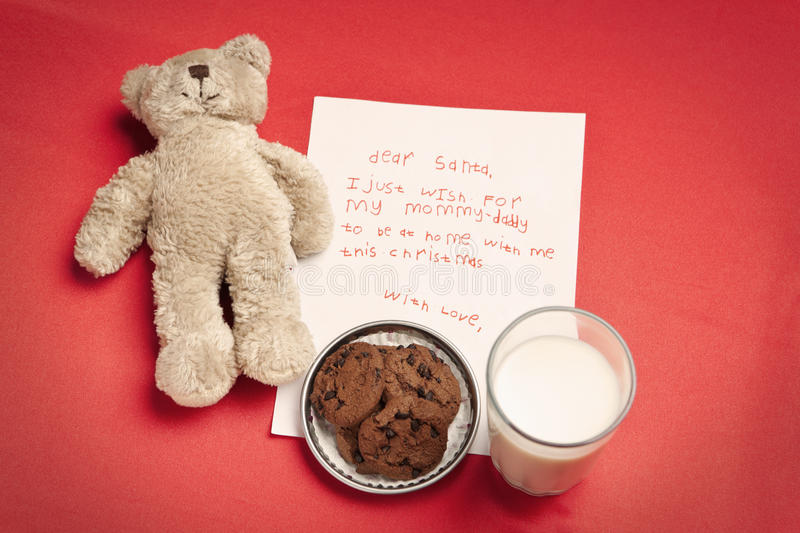 Download Christmas Wish Letter From Lonely Child Stock Photo - Image: 12010724