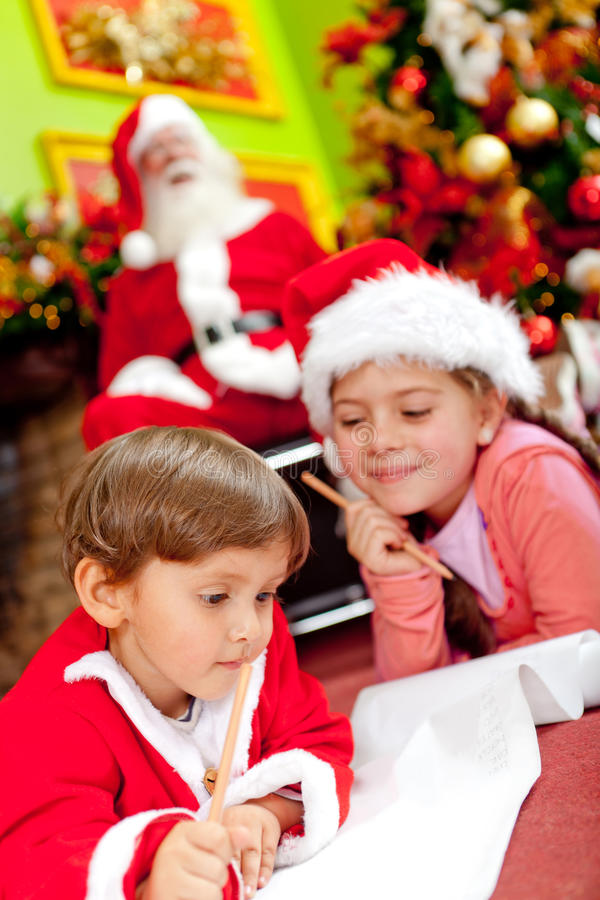 Download Christmas wish list stock photo. Image of kids, happy - 22315830