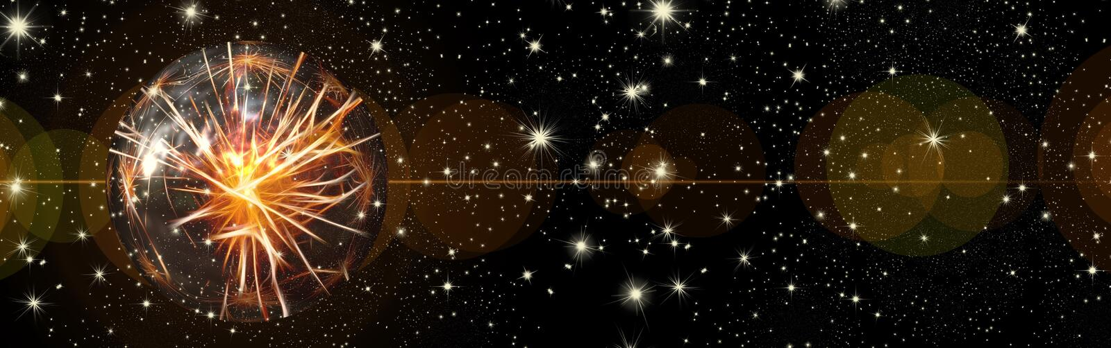 Christmas wishes, stars,ball, background stock photography