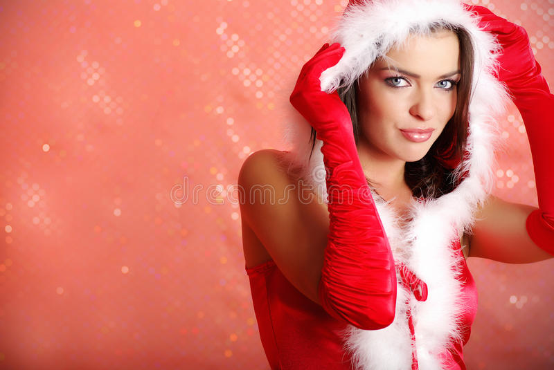 Download Christmas woman stock photo. Image of cute, makeover - 11831028