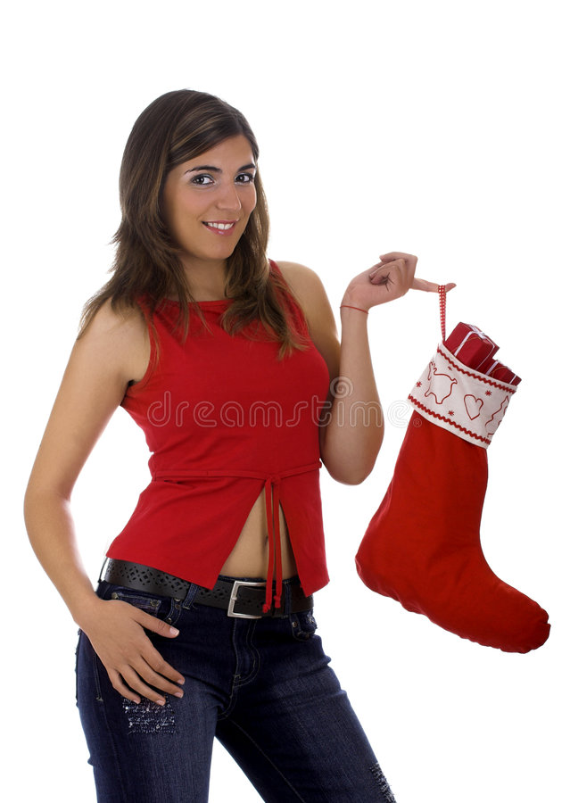 Download Christmas woman stock photo. Image of glamour, attractive - 1647234