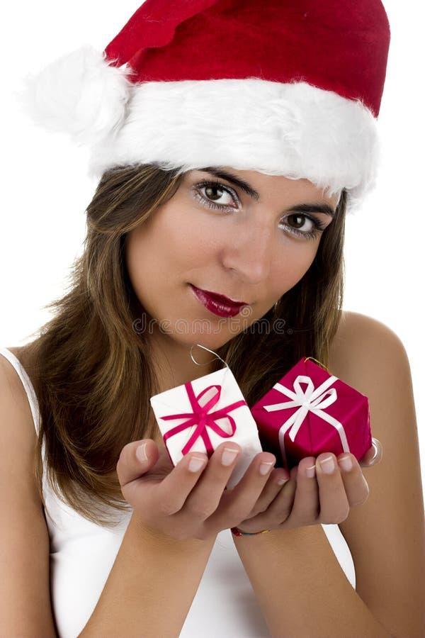 Christmas woman royalty free stock photography