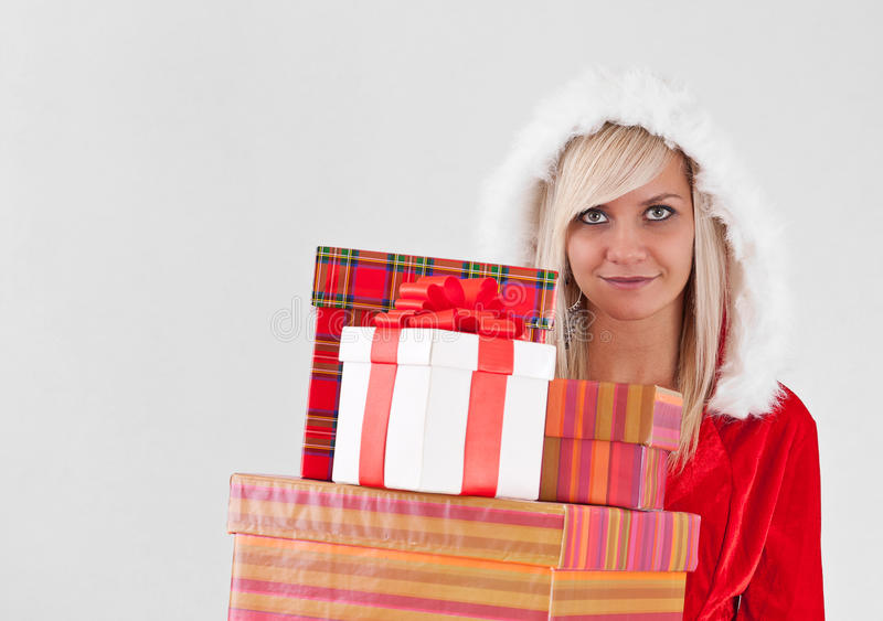 Download Christmas woman stock image. Image of copyspace, cheerful - 21679271