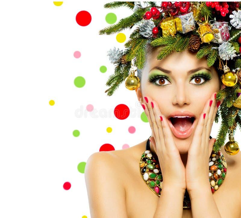 Free Christmas Woman Royalty Free Stock Photos - 34578148